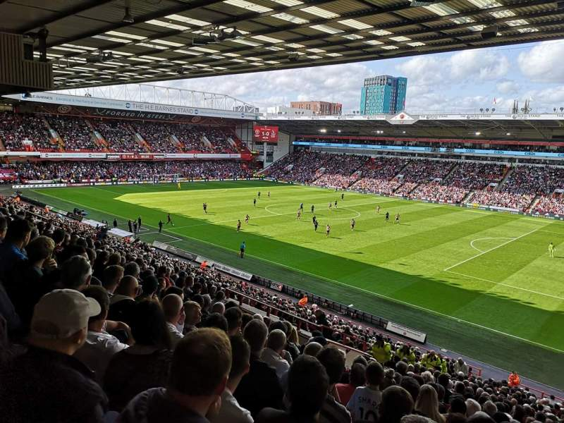 Seating view for Bramall Lane Section South Stand Row JJ Seat 4