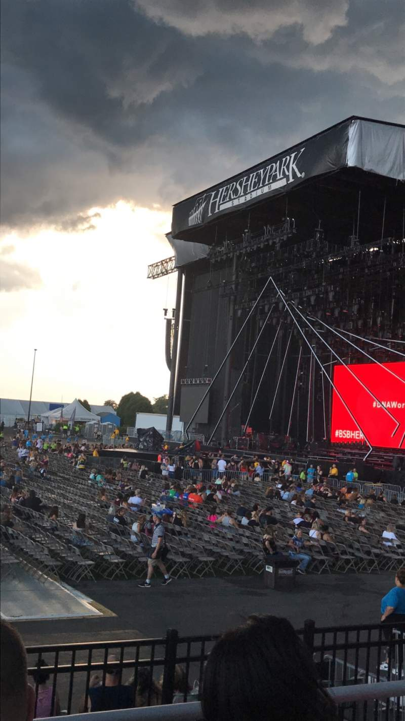 Seating view for Hershey Park Stadium Section 25 Row CC Seat 12