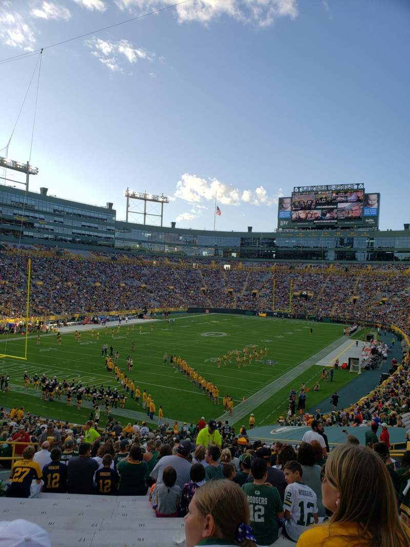 Seating view for Lambeau Field Section 133 Row 41 Seat 18