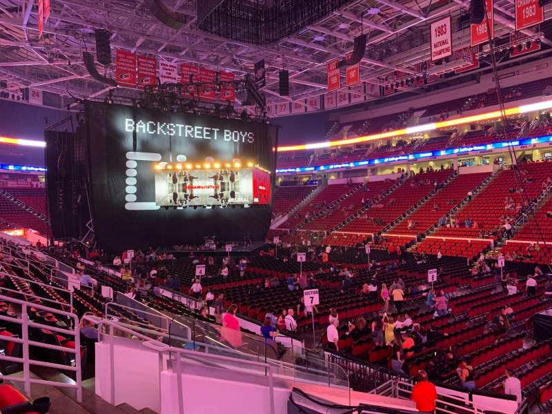 Seating view for PNC Arena Section 130 Row Q Seat 7
