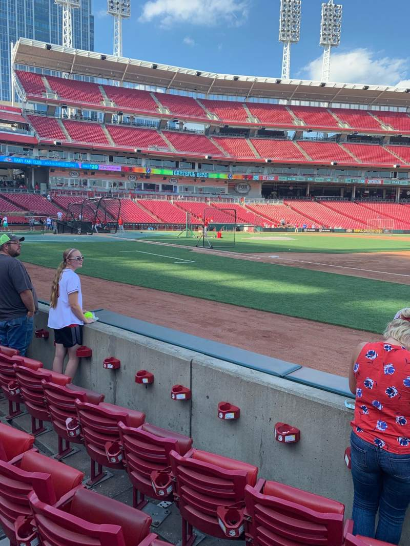 Seating view for Great American Ball Park Section 132 Row D Seat 3