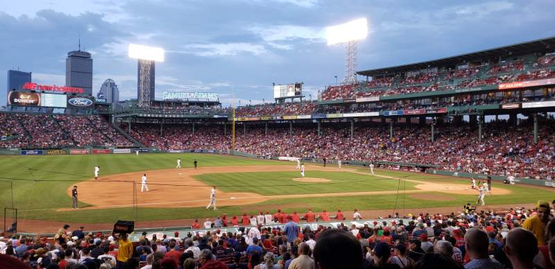 Seating view for Fenway Park Section grandstand 27 Row 2 Seat 13