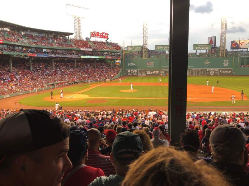 Seating view for Fenway Park Section Grandstand 16 Row 8 Seat 3