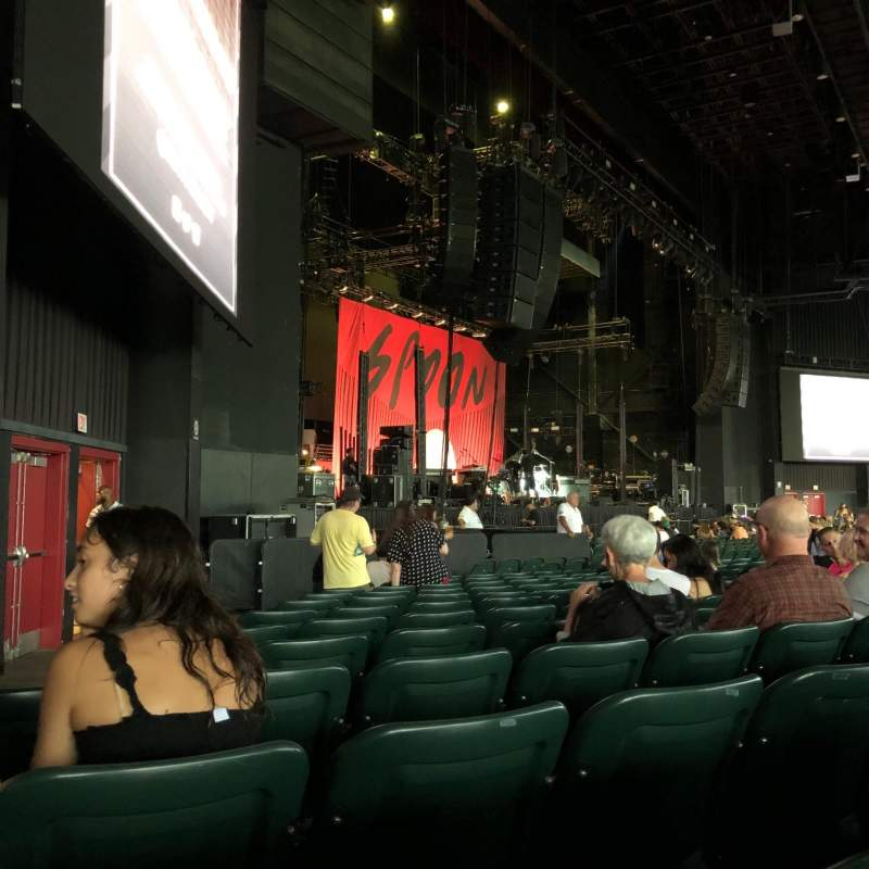 Seating view for BB&T Pavilion Section 104 Row M Seat 28-29