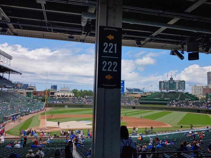 Seating view for Wrigley Field Section 221 Row 11 Seat 18