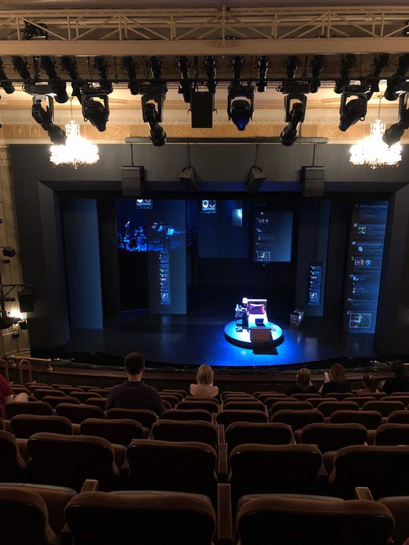 Seating view for Music Box Theatre Section Mezzanine C Row K Seat 107