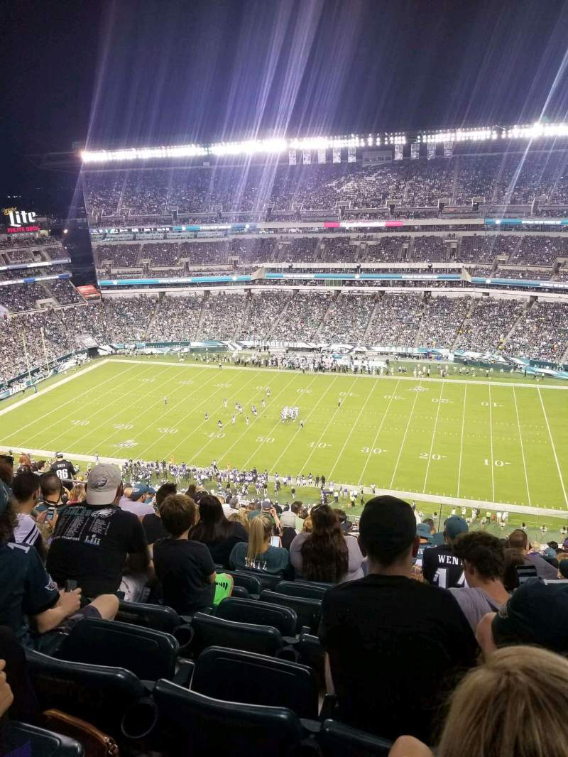 Seating view for Lincoln Financial Field Section 227 Row 22 Seat 9