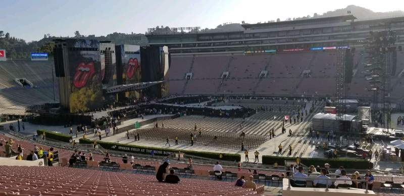 Seating view for Rose Bowl Section 6-L Row 56 Seat 3