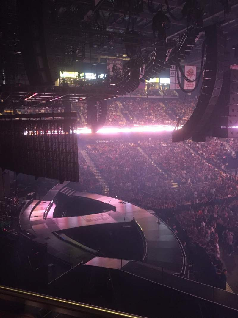 Seating view for Mohegan Sun Arena Section 120 Row B Seat 13