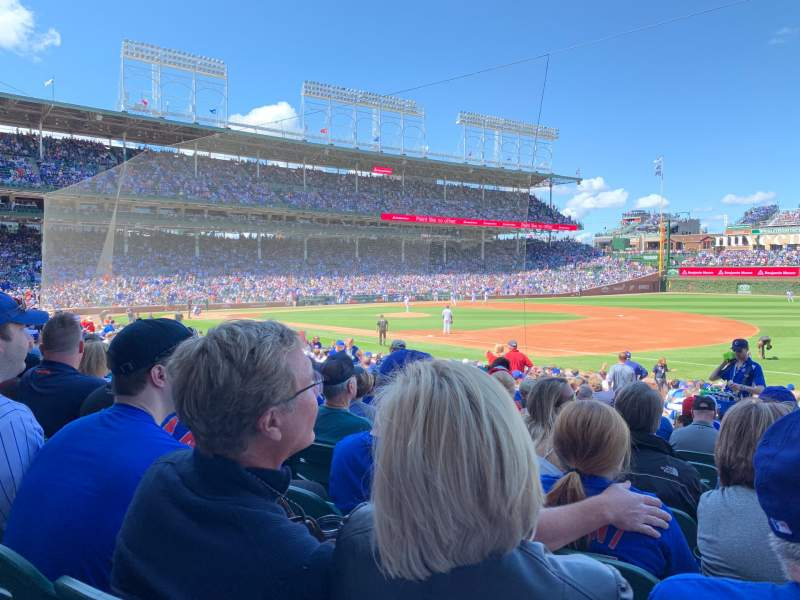 Seating view for Wrigley Field Section 127 Row 10 Seat 15