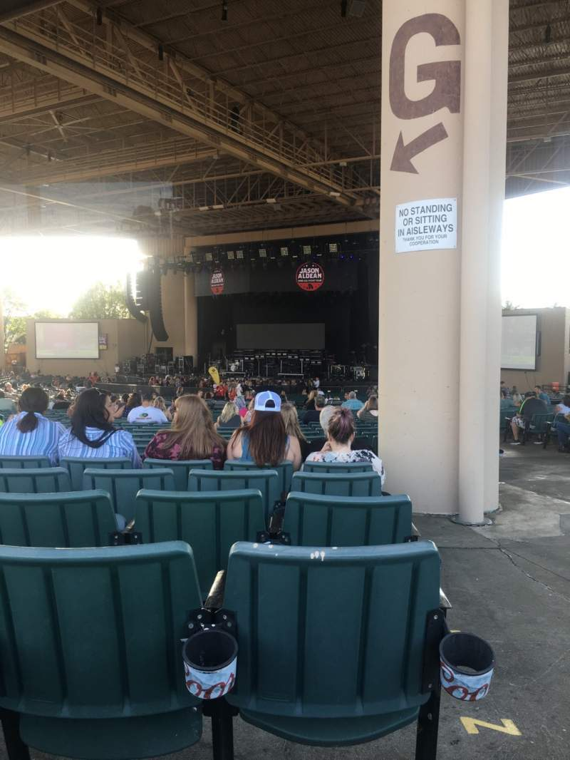 Seating view for Ruoff Music Center Section G Row BB Seat 33