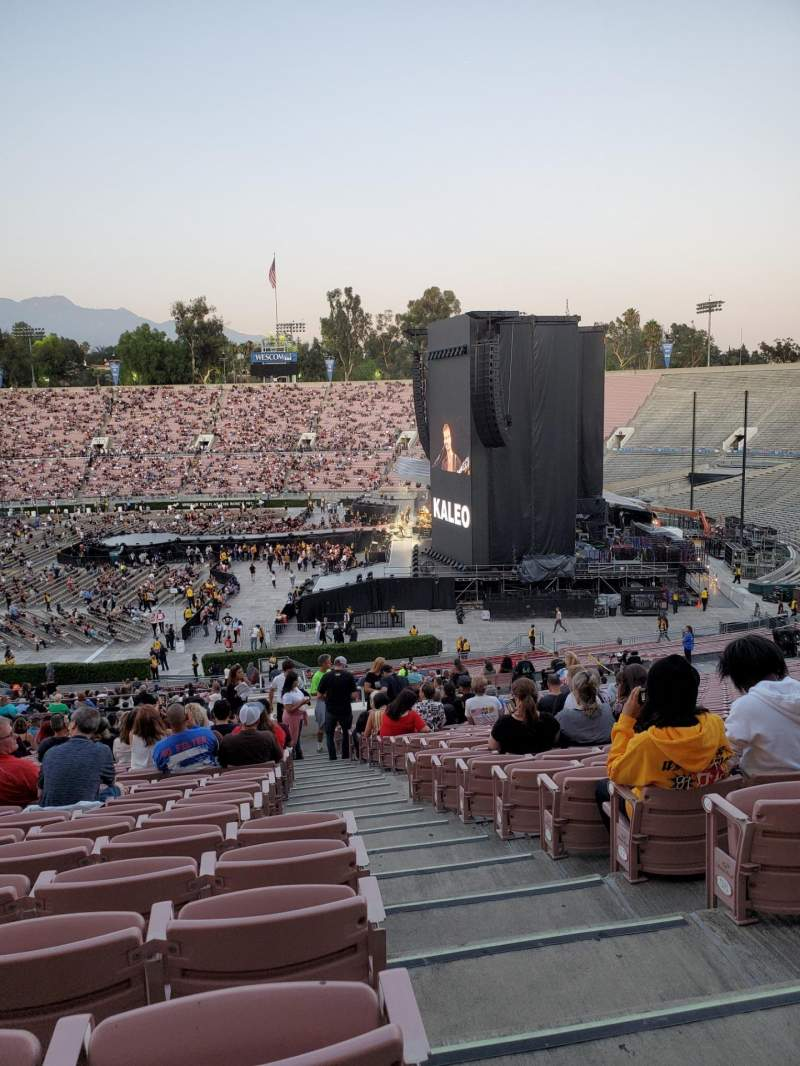 Seating view for Rose Bowl Section 20-L Row 63 Seat 1