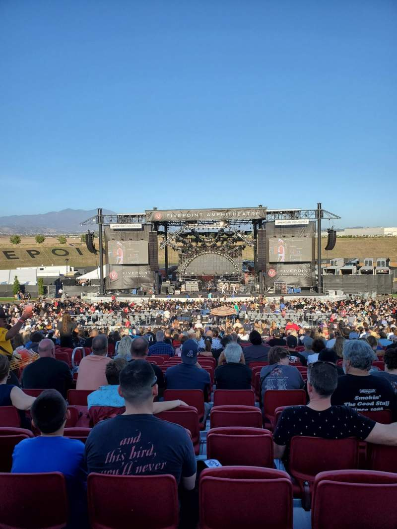 Seating view for FivePoint Amphitheater Section Terrace 303 Row 36 Seat 35