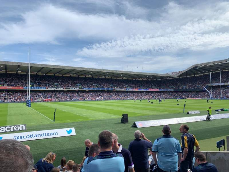 Seating view for Murrayfield Stadium Section W29 Row J Seat 10