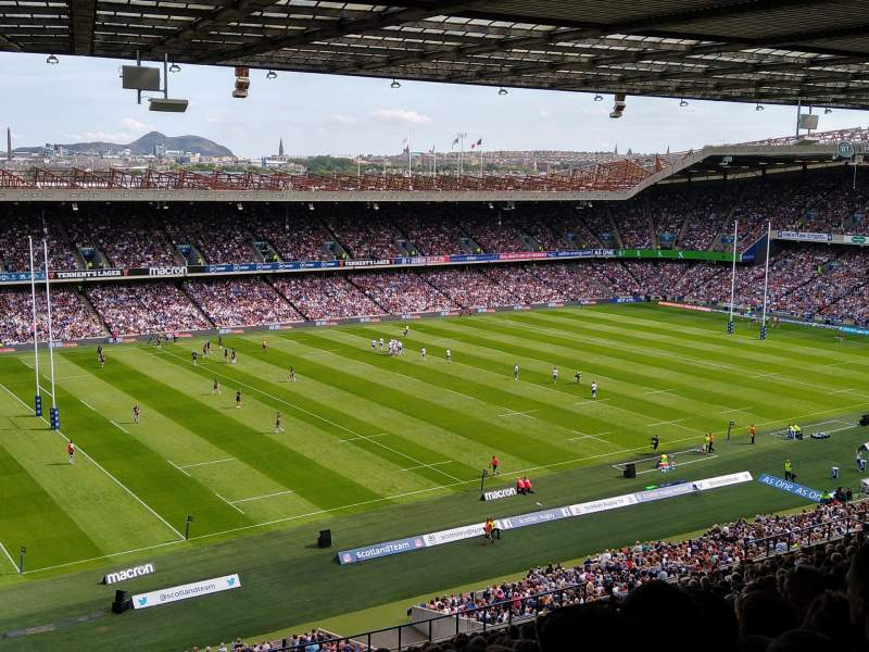Seating view for Murrayfield Stadium Section W38 Row PP Seat 2