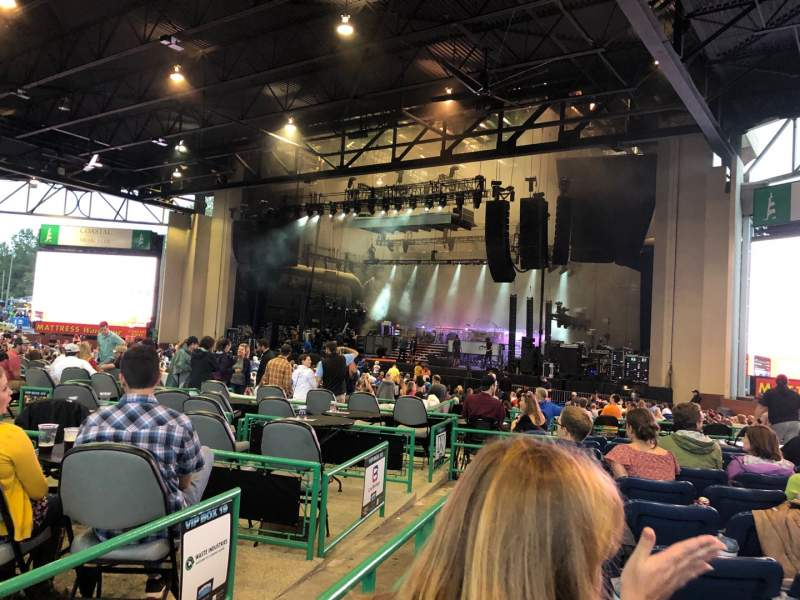 Seating view for Coastal Credit Union Music Park at Walnut Creek Section 5 Row K Seat 19
