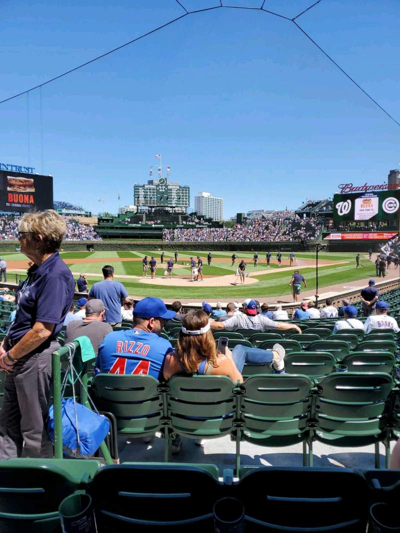 Seating view for Wrigley Field Section 117 Row 2 Seat 3