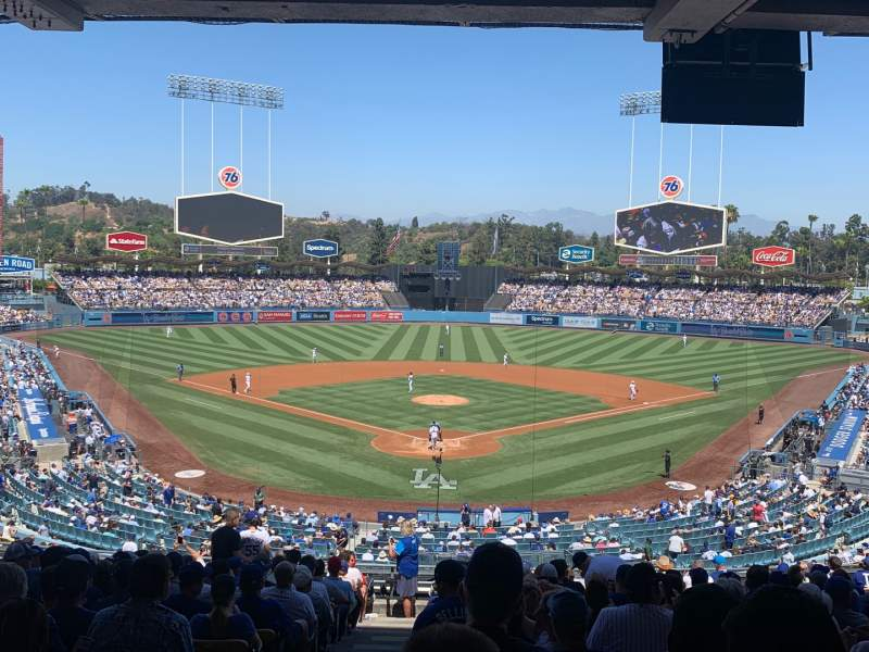 Seating view for Dodger Stadium Section 101LG Row S Seat 1
