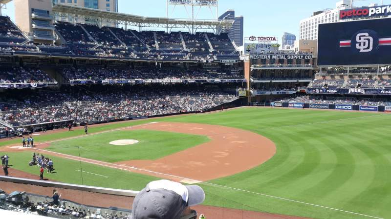 Seating view for PETCO Park Section 215 Row 2 Seat 2