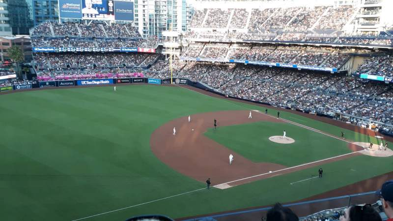 Seating view for PETCO Park Section 318 Row 3 Seat 17