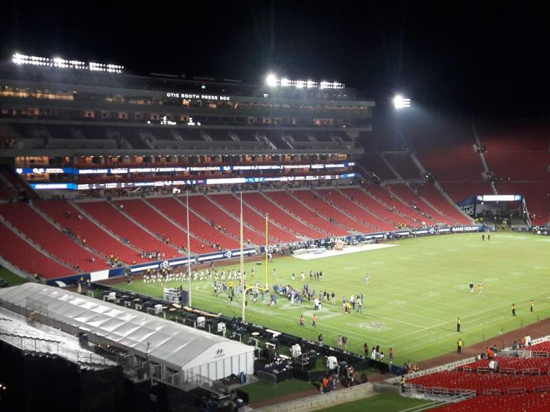 Seating view for Los Angeles Memorial Coliseum Section 310B Row 22 Seat 18