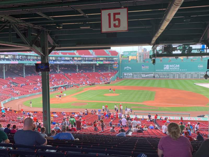 Seating view for Fenway Park Section Grandstand 15 Row 19 Seat 11