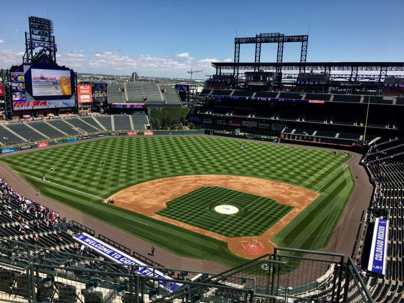 Seating view for Coors Field Section U333 Row 14 Seat 1