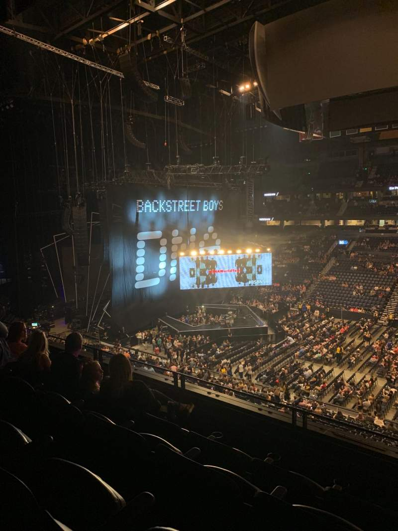 Seating view for Bridgestone Arena Section 217 Row G Seat 3