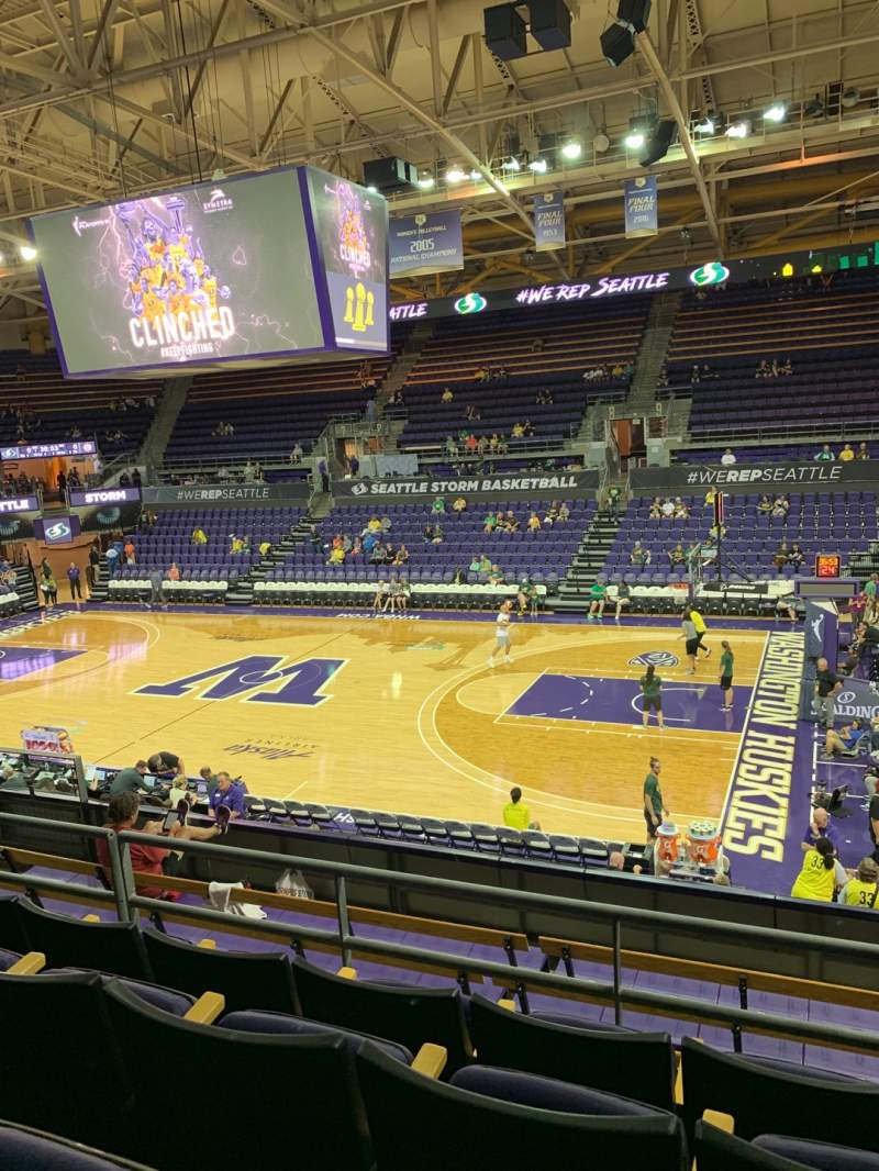 Seating view for Alaska Airlines Arena at Hec Edmundson Pavilion Section 14 Row 17 Seat 10