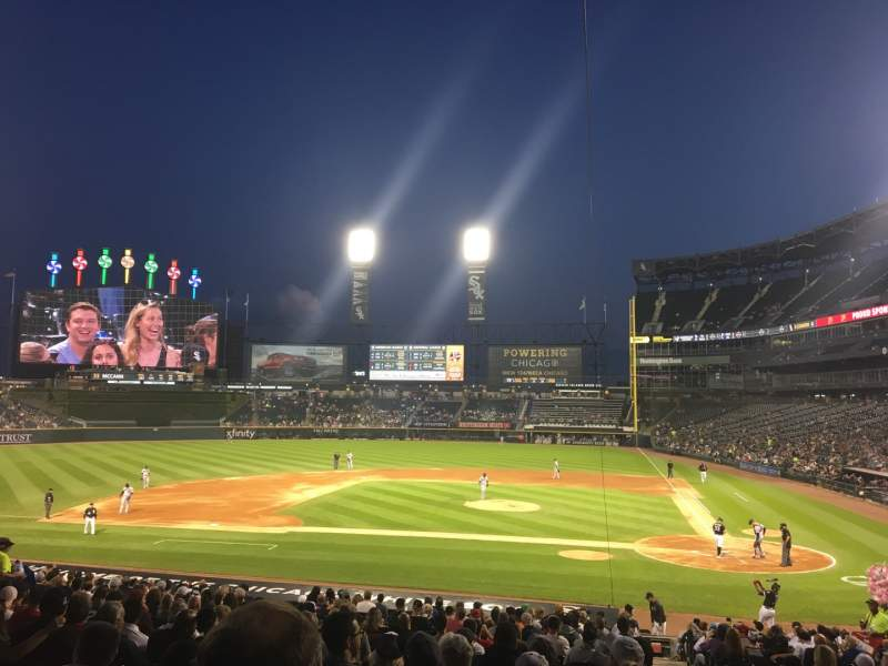 Seating view for Guaranteed Rate Field Section 137 Row 28 Seat 1