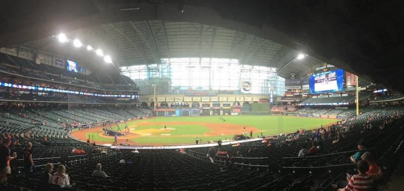 Seating view for Minute Maid Park Section 124 Row 35 Seat 8