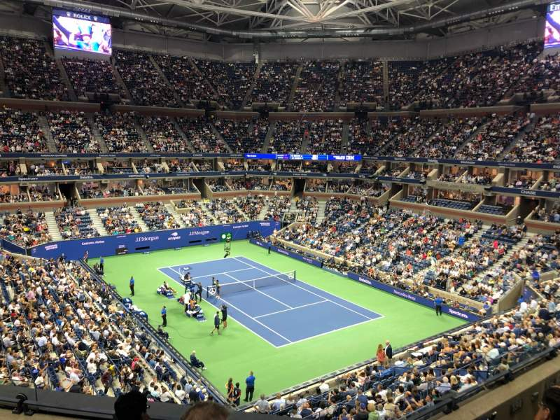 Seating view for Arthur Ashe Stadium Section 134 Row D Seat 5