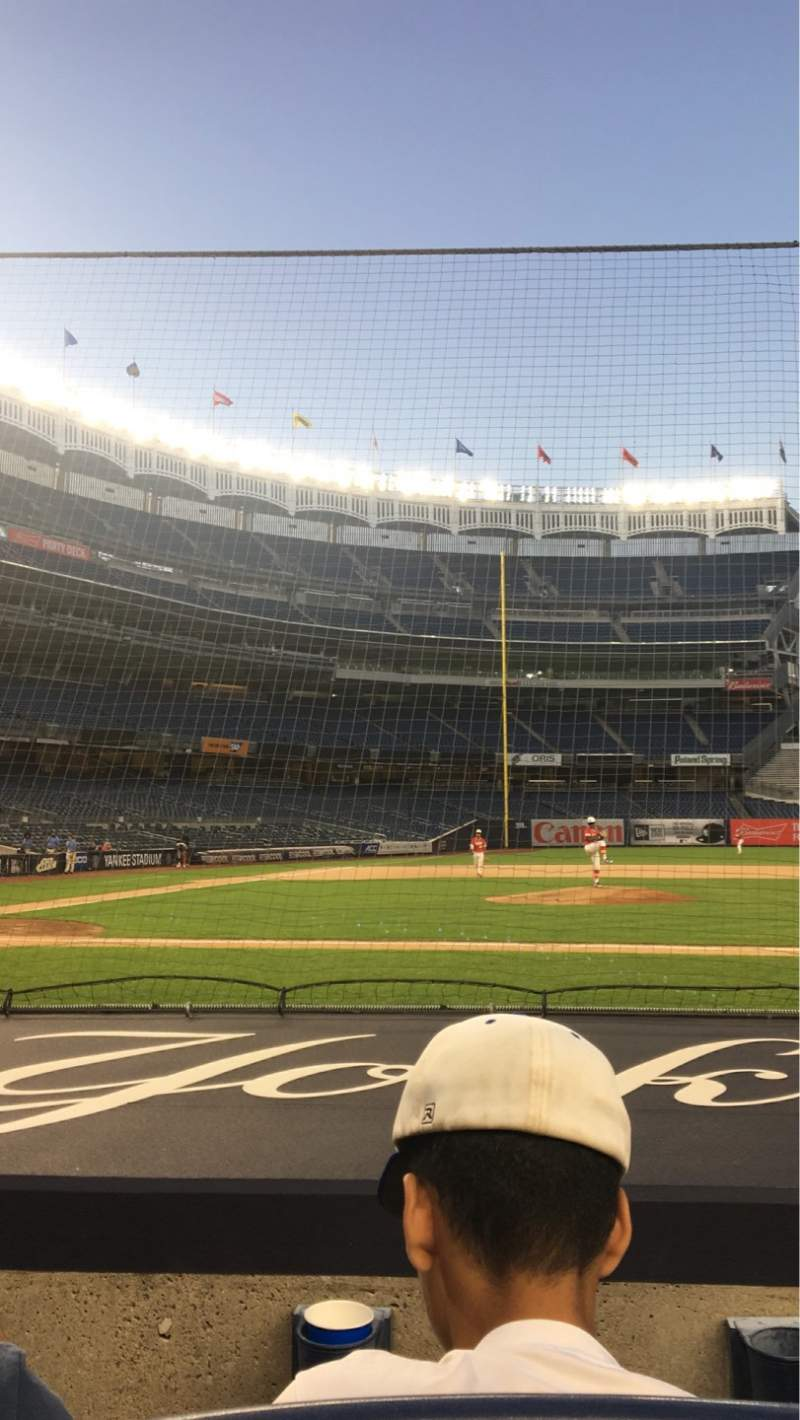 Seating view for Yankee Stadium Section 016 Row 2 Seat 3