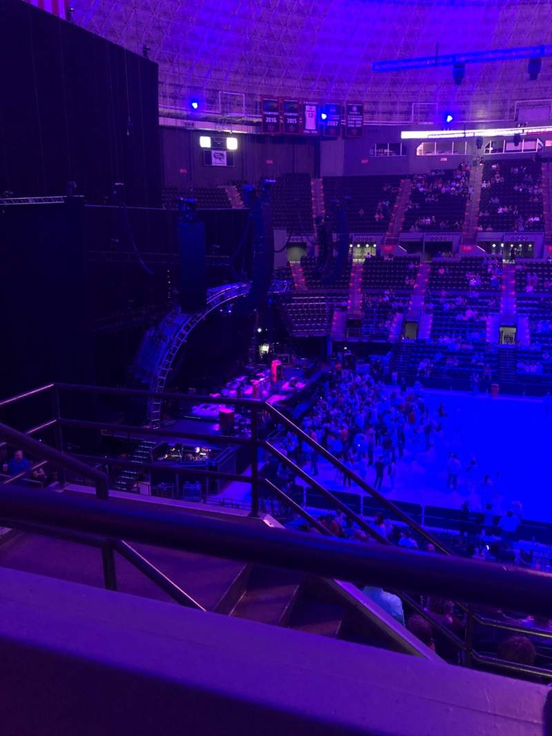 Seating view for Cajundome Section 226 Row 1 Seat 10