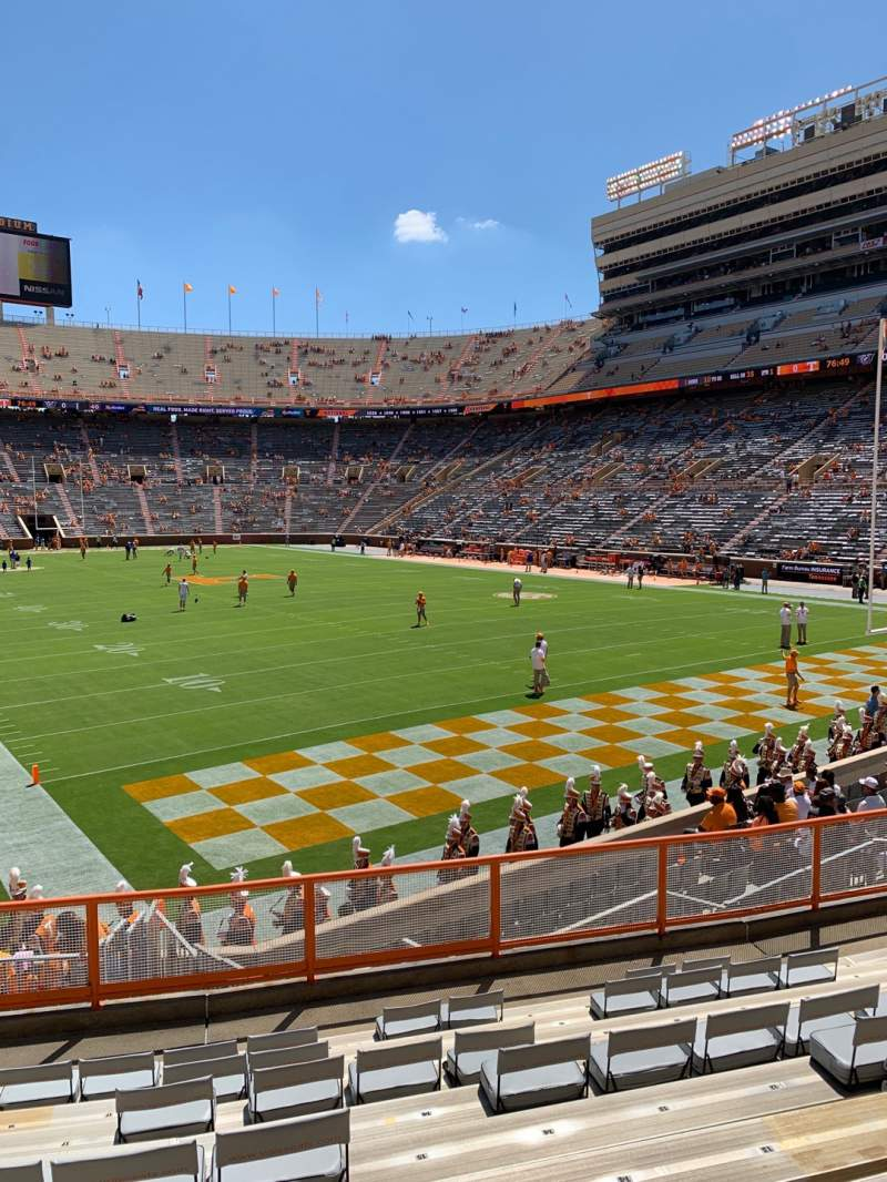 Seating view for Neyland Stadium Section Z11 Row 11 Seat 17