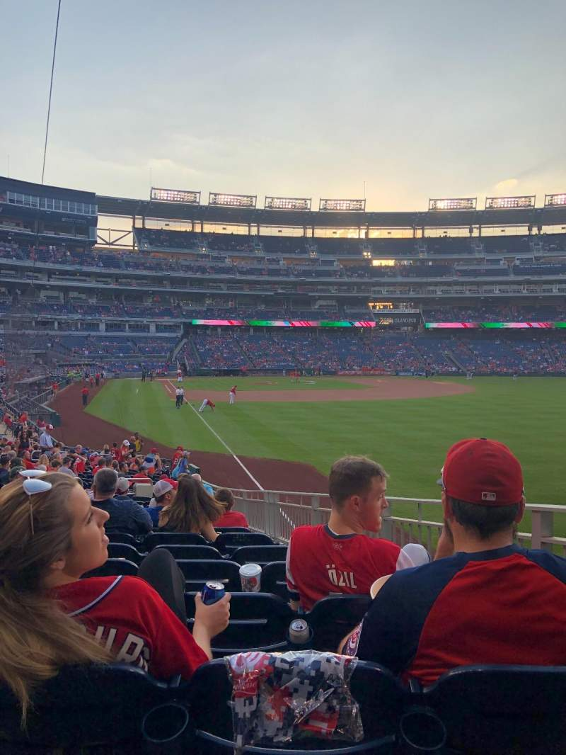 Seating view for Nationals Park Section 137 Row CC Seat 11