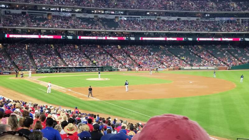Seating view for Globe Life Park in Arlington Section 39 Row 25 Seat 7
