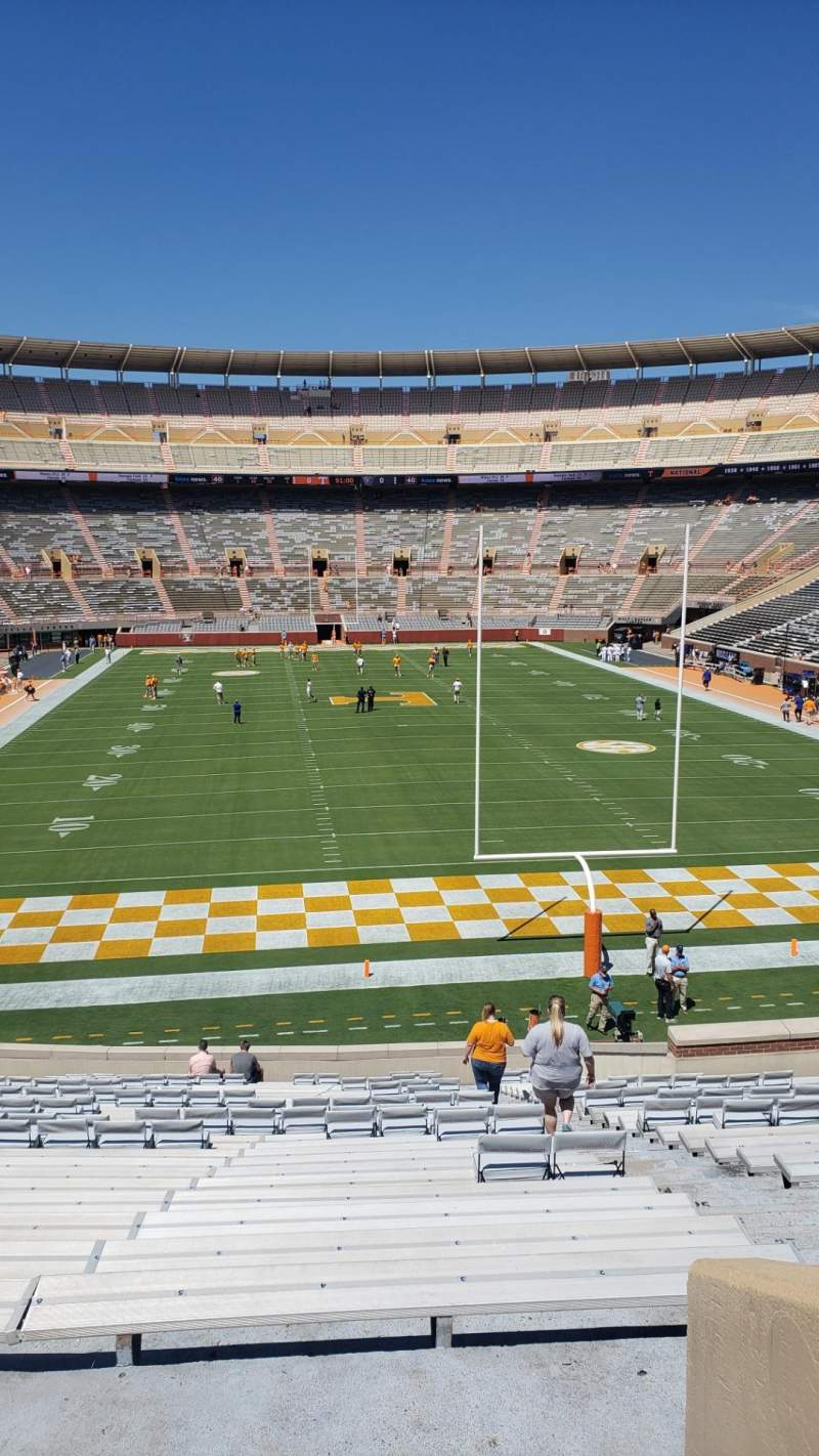 Seating view for Neyland Stadium Section M Row 33 Seat 2
