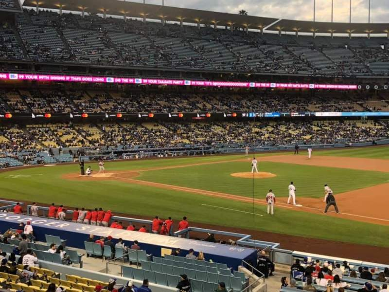 Seating view for Dodger Stadium Section 142LG Row F Seat 8