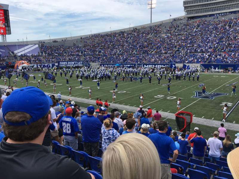 Seating view for Liberty Bowl Memorial Stadium Section 118 Row 17 Seat 10