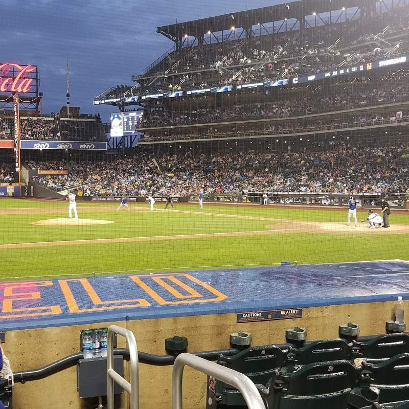 Seating view for Citi Field Section 122 Row 6 Seat 1