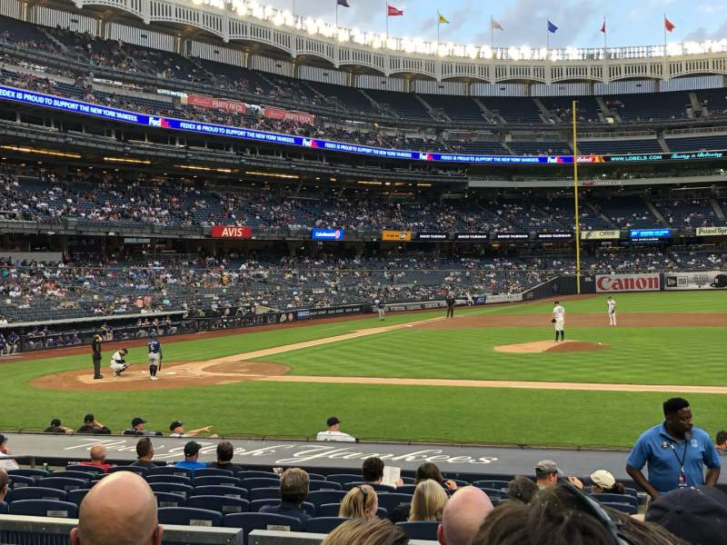 Seating view for Yankee Stadium Section 116 Row 4 Seat 5