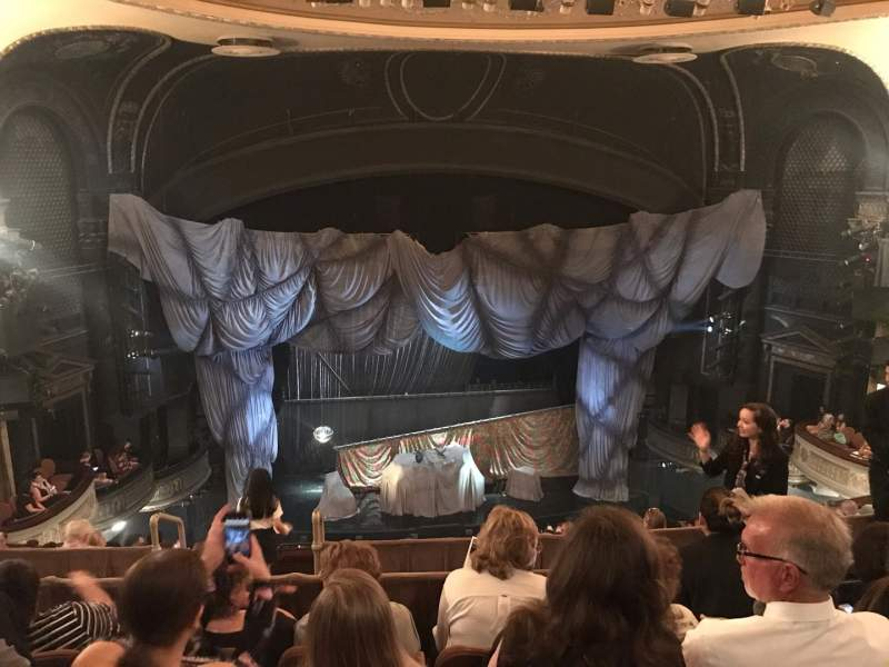 Seating view for Majestic Theatre Section Rear Mezzanine LC Row D Seat 111