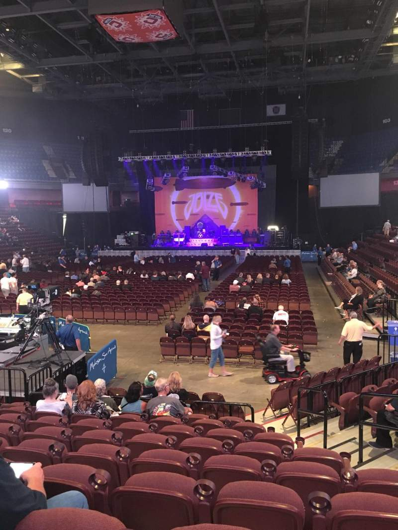 Seating view for Mohegan Sun Arena Section 19 Row L Seat 5