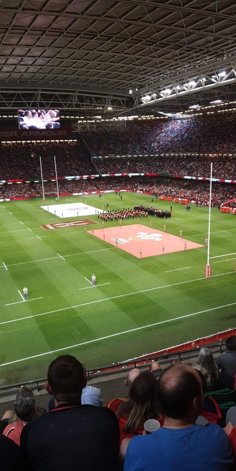 Seating view for Principality Stadium Section U22 Row 7 Seat 7