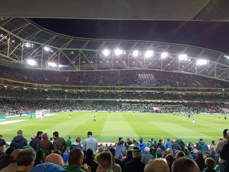 Seating view for Aviva Stadium Section 106 Row BB Seat 25