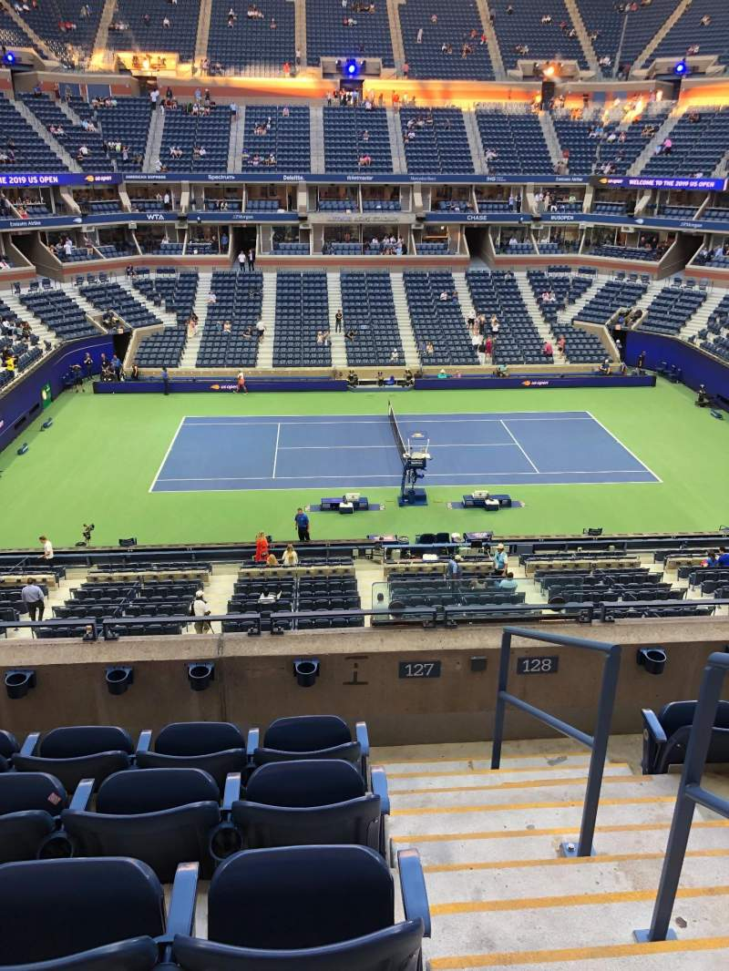 Seating view for Arthur Ashe Stadium Section 127 Row E Seat 11