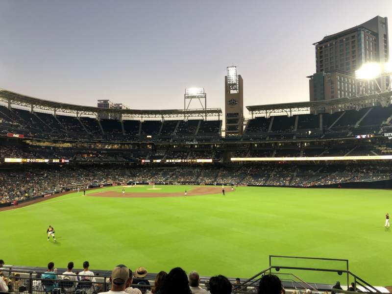 Seating view for PETCO Park Section 135 Row 13 Seat 24