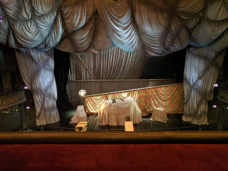 Seating view for Majestic Theatre Section Front Mezzanine C Row A Seat 108