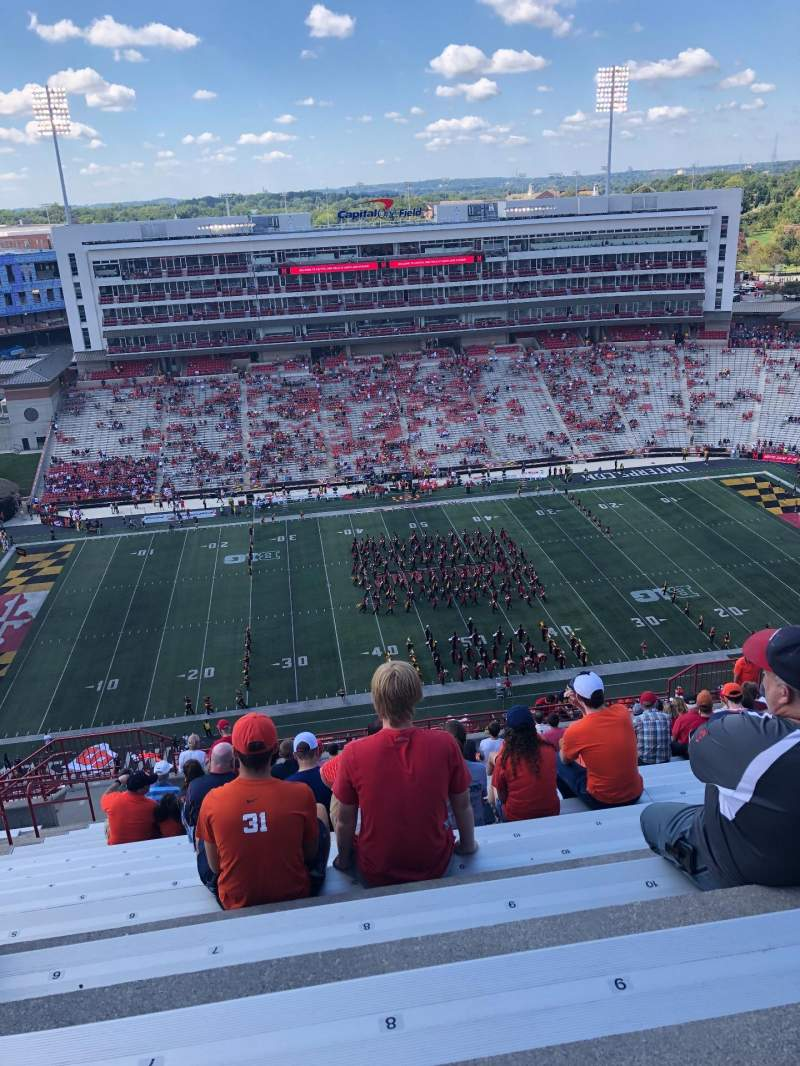 Seating view for Maryland Stadium Section 305 Row Y Seat 8